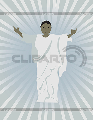 Czarny Jezus | Klipart wektorowy |ID 3159973