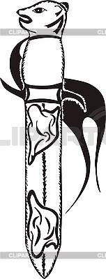 Klinge Tattoo mit Fisch | Stock Vektorgrafik |ID 3006619