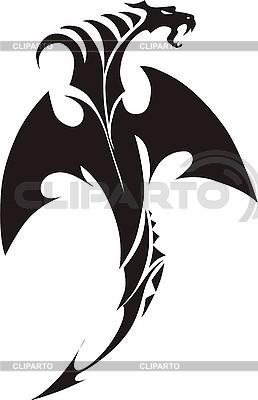 Smok tatuaż | Klipart wektorowy |ID 3006771