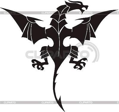 Smok tatuaż | Klipart wektorowy |ID 3006803