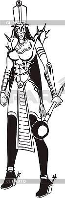 Krieger-Frau mit Streitkolben | Stock Vektorgrafik |ID 3006879