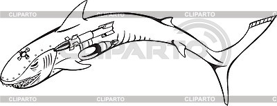 Hai-Cyborg | Stock Vektorgrafik |ID 3006991