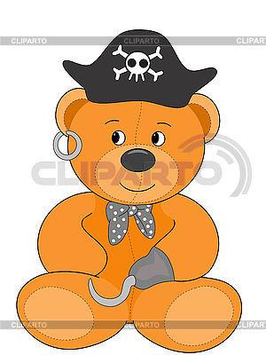 Teddybär Pirat | Illustration mit hoher Auflösung |ID 3010628