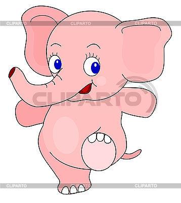 Мультяшный слонёнок | Иллюстрация большого размера |ID 3011109