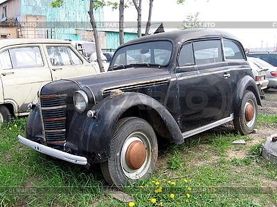 Stary czarny samochód | Foto stockowe wysokiej rozdzielczości |ID 3010904