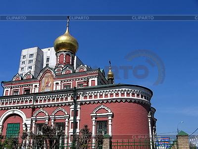 Czerwony kościół | Foto stockowe wysokiej rozdzielczości |ID 3012222
