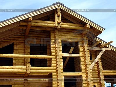 Chata Drewno w budownictwie | Foto stockowe wysokiej rozdzielczości |ID 3032406