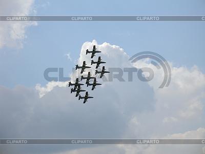 Aermacchi MB-339 w niebie | Foto stockowe wysokiej rozdzielczości |ID 3369313