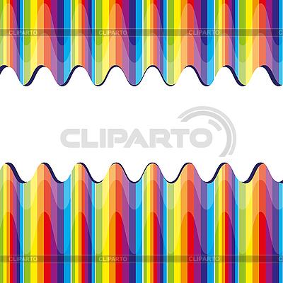 Geschnitte Regenbogen-Streifen | Stock Vektorgrafik |ID 3011168