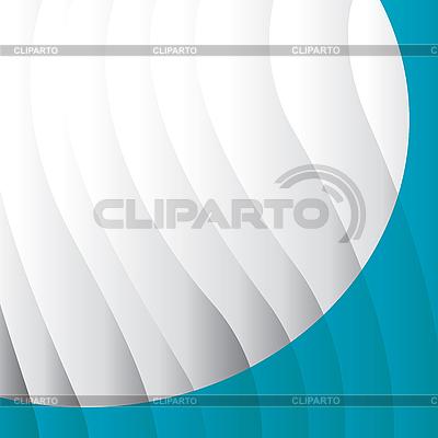 Biały i niebieski półokrągły narożnik | Klipart wektorowy |ID 3011186