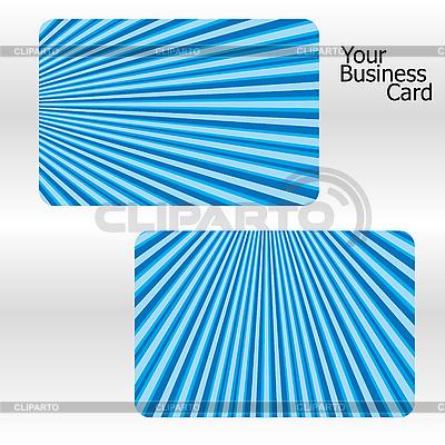 Blaue Visitenkarten mit Streifen | Stock Vektorgrafik |ID 3011375