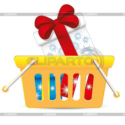 Warenkorb mit Geschenke | Stock Vektorgrafik |ID 3011384