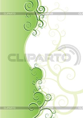 花卉绿色背景 | 向量插图 |ID 3011545