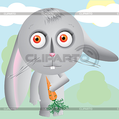 Hare cartoon | Klipart wektorowy |ID 3011595