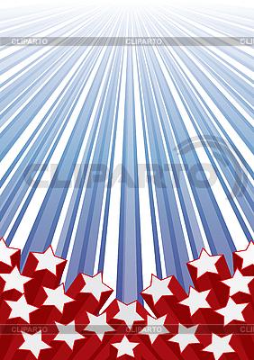 Tło z elementami flagę USA | Klipart wektorowy |ID 3011621