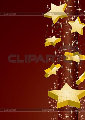 Złote gwiazdki | Klipart wektorowy |ID 3016192