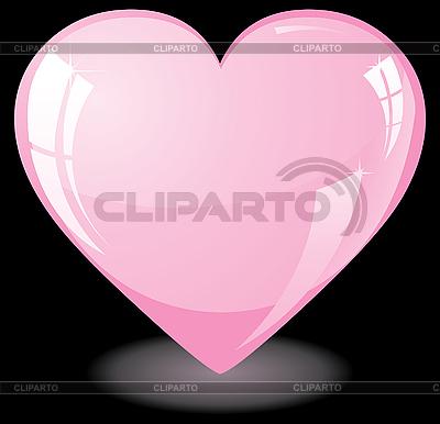 Glitter pink heart | Klipart wektorowy |ID 3016206