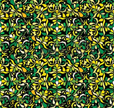 黄色和绿色的无缝模式 | 向量插图 |ID 3016218