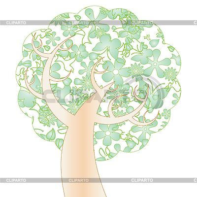 Дерево весной векторный клипарт id