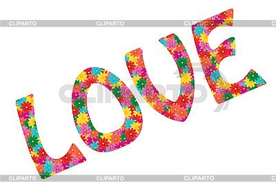 Miłości z kwiatów | Klipart wektorowy |ID 3016257