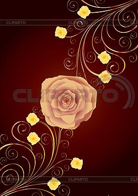 Tle z różą | Klipart wektorowy |ID 3016359
