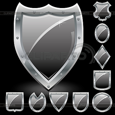 Schwarze Schilde-Icons | Stock Vektorgrafik |ID 3025761