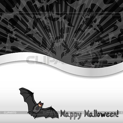 Halloween-Karte mit einer Fledermaus | Stock Vektorgrafik |ID 3063242