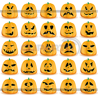Kürbisse für Halloween | Stock Vektorgrafik |ID 3063248