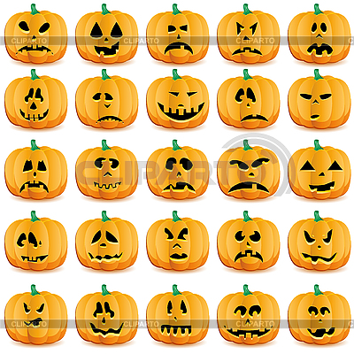Kürbisse für Halloween | Stock Vektorgrafik |ID 3071689