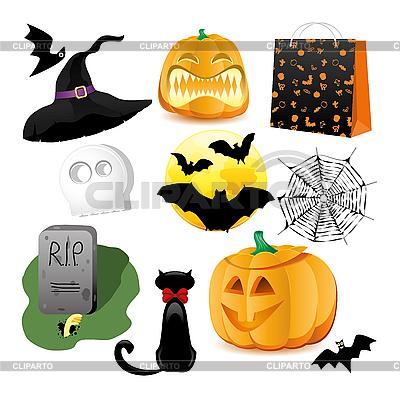 Halloween set | Klipart wektorowy |ID 3078060