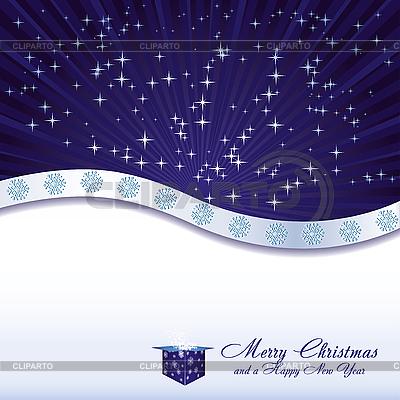 Рождественская открытка с подарочной коробкой | Векторный клипарт |ID 3093496