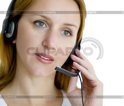 Kobieta z zestawu słuchawkowego | Foto stockowe wysokiej rozdzielczości |ID 3014731