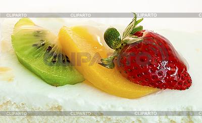 Kuchen mit Erdbeeren, Kiwi und Orange | Foto mit hoher Auflösung |ID 3015823