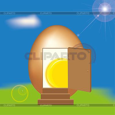 Eier-Haus | Illustration mit hoher Auflösung |ID 3018633