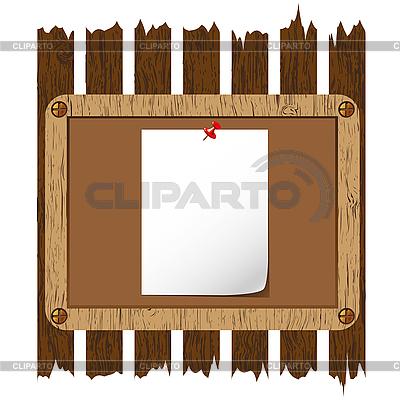 Holzbrett auf Zaun | Illustration mit hoher Auflösung |ID 3018643