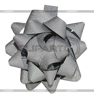 Серебристая блестящая подарочная лента | Фото большого размера |ID 3036766