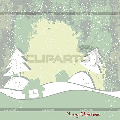 Weihnachtskarte im Grunge-Stil | Illustration mit hoher Auflösung |ID 3110616