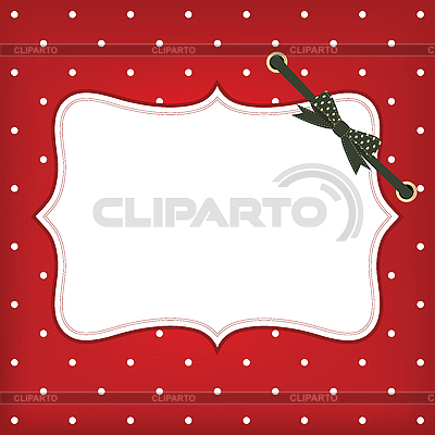 Новогодняя открытка с рамкой и бантом | Иллюстрация большого размера |ID 3110617