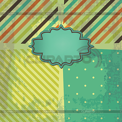 Retro-Hintergrund mit Streifen und Rahmen | Illustration mit hoher Auflösung |ID 3110653