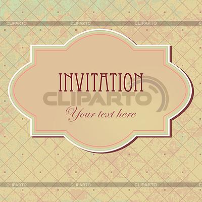 Vintage-Einladung | Illustration mit hoher Auflösung |ID 3110659