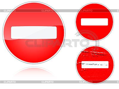 Набор вариантов дорожного знака запрета движения | Иллюстрация большого размера |ID 3012750