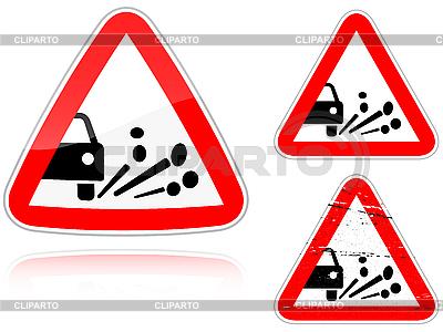 Warianty Wydmuszysko żwiru - znak drogowy | Stockowa ilustracja wysokiej rozdzielczości |ID 3012774