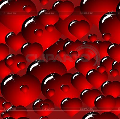Tło z szkła ciemno-czerwonych serc | Klipart wektorowy |ID 3012793