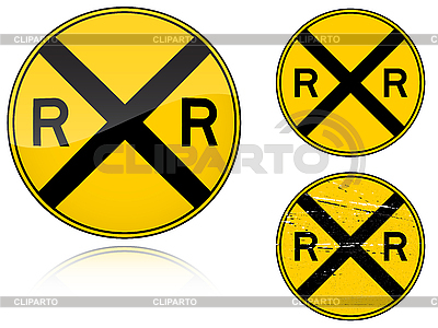 Bahnübergang-Warnung - Verkehrszeichen | Stock Vektorgrafik |ID 3012809