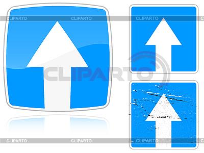 Warianty drogowy z ruch jednokierunkowy | Klipart wektorowy |ID 3012815