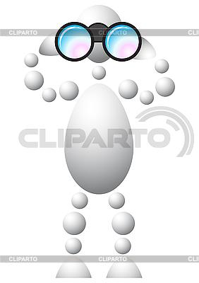 Człowiek patrząc przez lornetkę | Klipart wektorowy |ID 3013001