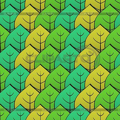 Tło z zielonymi liśćmi | Klipart wektorowy |ID 3013131
