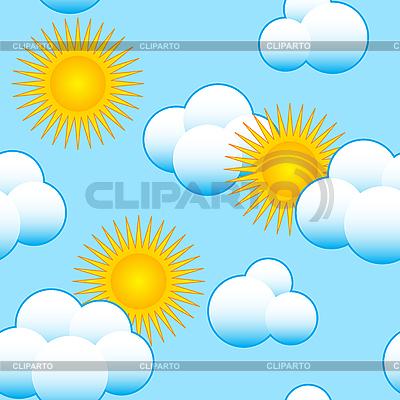 Tle nieba z chmurami i słońcem | Klipart wektorowy |ID 3013161