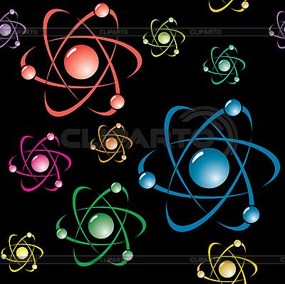Tło z symbolem atomu | Klipart wektorowy |ID 3013330