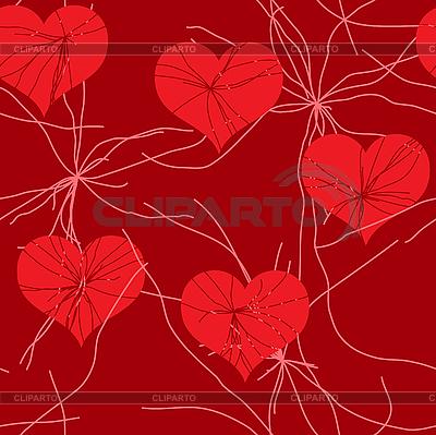Czerwonym tle grunge z serca | Klipart wektorowy |ID 3013384
